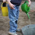 Sommerfest Wasserinstallation